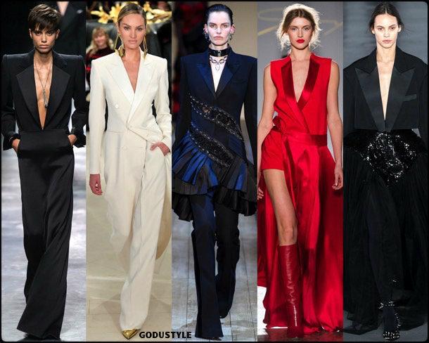tuxedo dress, vestido tuxedo, fall 2019, fashion, trends, tendencias, moda, otoño 2019, invierno 2020, look, style, details, fashion weeks
