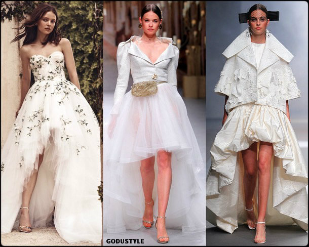 high low, bridal, spring 2020, trends, novias, verano, 2020, tendencias, look, style, details, wedding dress, doble altura