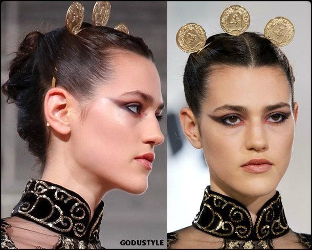 elie saab, fashion, beauty, look, couture, fall 2019, style, details, makeup, hair, trends, belleza, moda, otoño 2019, tendencias