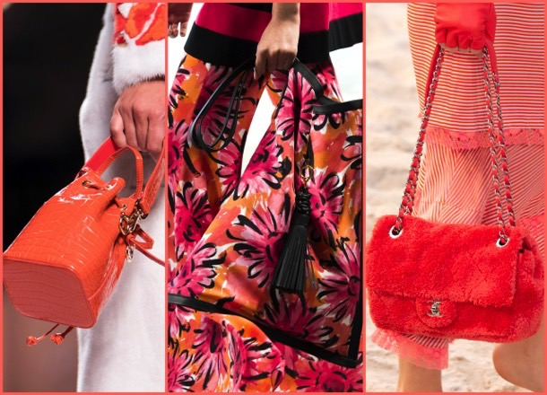 bags, living coral, color, pantone, 2019, fashion, look, street style, shopping, details, trend, moda, outfit, tendencia