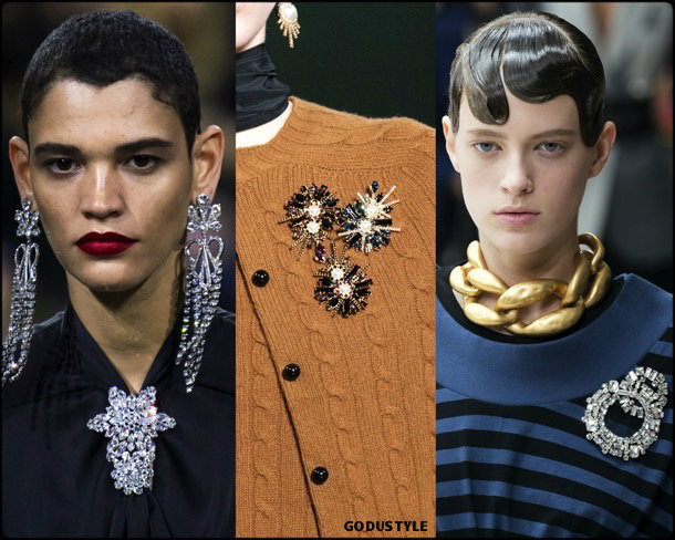 brooches, jewelry, trends, fall 2019, winter 2020, fashion, look, style, details, joyas, tendencias, otoño 2019, invierno 2020, moda, design