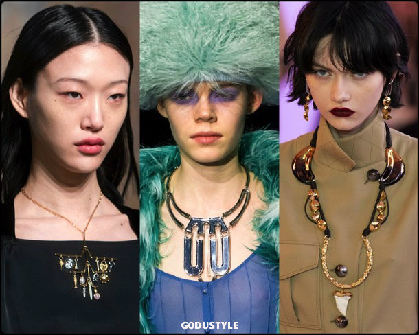 geometric necklaces, jewelry, trends, fall 2019, winter 2020, fashion, look, style, details, joyas, tendencias, otoño 2019, invierno 2020, moda, design