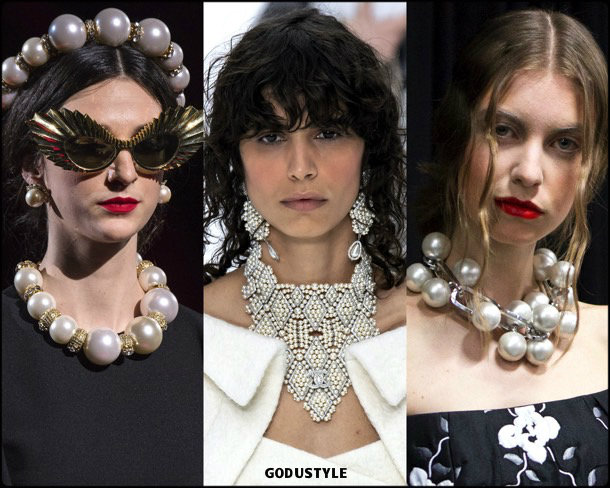 pearl necklaces, jewelry, trends, fall 2019, winter 2020, fashion, look, style, details, joyas, tendencias, otoño 2019, invierno 2020, moda, design