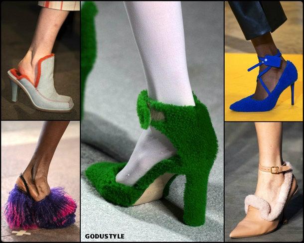 shearling pumps, shearling details, fashion, shoes, fall 2019, trends, zåpatos, moda, invierno 2020, tendencias, runway, pasarela