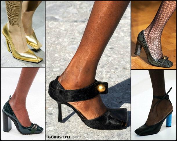 square toes, fashion, shoes, fall 2019, trends, zåpatos, moda, invierno 2020, tendencias, runway, pasarela
