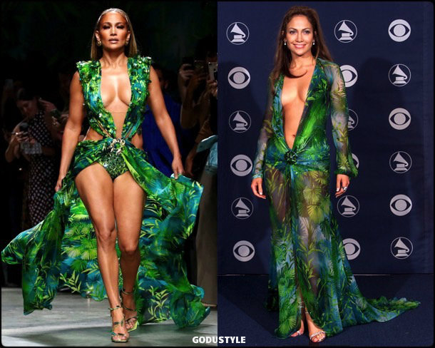 jennifer lopez, versace, spring 2020, mfw, look, style, details, shoes, beauty, jewelry, verano 2020, review, moda, accessories, review, repaso, outfit
