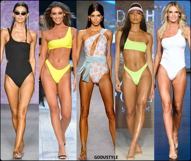 one schoulder, tops, swimsuit, spring, 2020, swimwear, trend, look, style, details, miami swim week, moda, baño, bikini, bañador, tendencias, verano 2020, swim trends