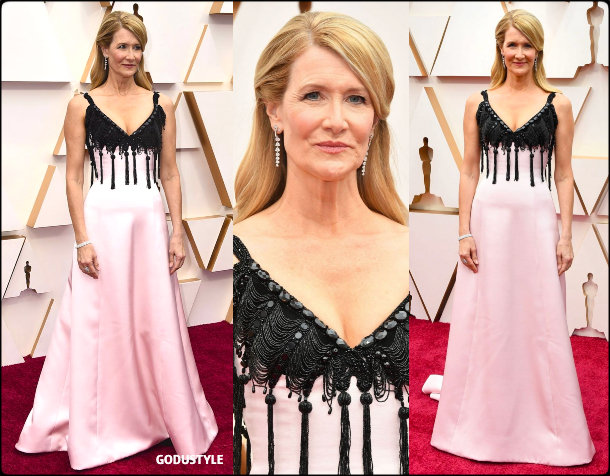laura dern, oscars, 2020, red carpet, 2020, look, style, beauty, details, jewelry, accessories, moda, alfombra roja, oscar, belleza, joyas