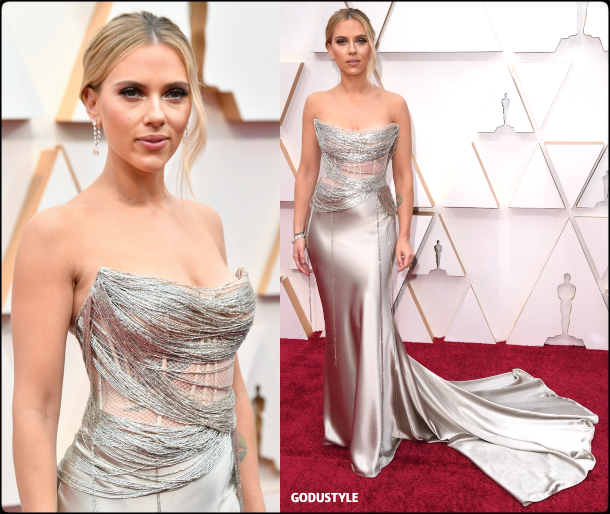 scarlett johansson, oscars, 2020, red carpet, 2020, look, style, beauty, details, jewelry, accessories, moda, alfombra roja, oscar, belleza, joyas