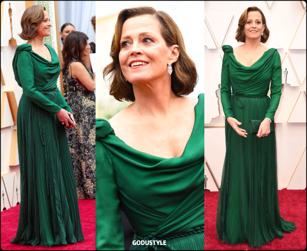 sigourney weaver, oscars, 2020, red carpet, 2020, look, style, beauty, details, jewelry, accessories, moda, alfombra roja, oscar, belleza, joyas