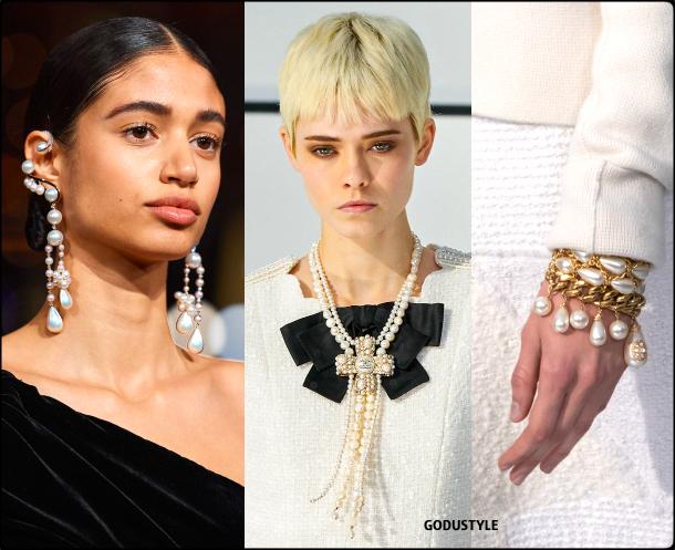 fringe, pearls, jewelry, fall, winter, 2020, 2021, trend, look, style, details, runway, joyas, perlas, moda, flecos, tendencia, invierno, otoño