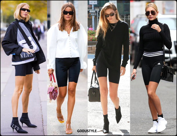 fashion, bike shorts, street style, look, style, inspiration, athleisure, trend, sporty chic, outfit, fall, winter, 2020, 2021, moda, deportiva, tendencia