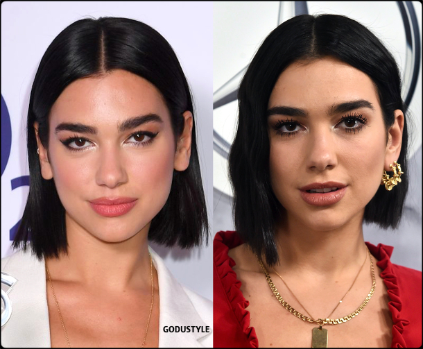 dua lipa, wavy bob, straight bob, fashion, bob, hairstyle, fall, 2020, winter, 2021, hair, trend, beauty, look, style, details, moda, tendencia, peinado, corte pelo