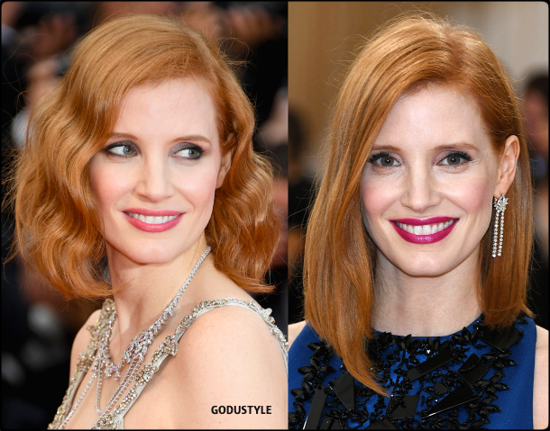 jessica chastain, wavy bob, straight bob, fashion, bob, hairstyle, fall, 2020, winter, 2021, hair, trend, beauty, look, style, details, moda, tendencia, peinado, corte pelo