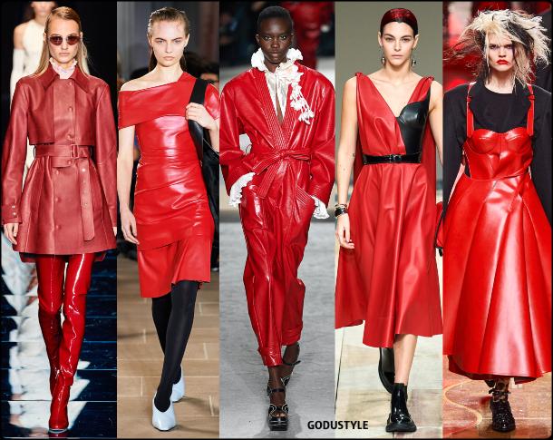 fashion, red, leather, dress, fall, winter, 2020, 2021, trend, look, style, details, moda, tendencias, otoño, invierno, vestido, cuero, rojo