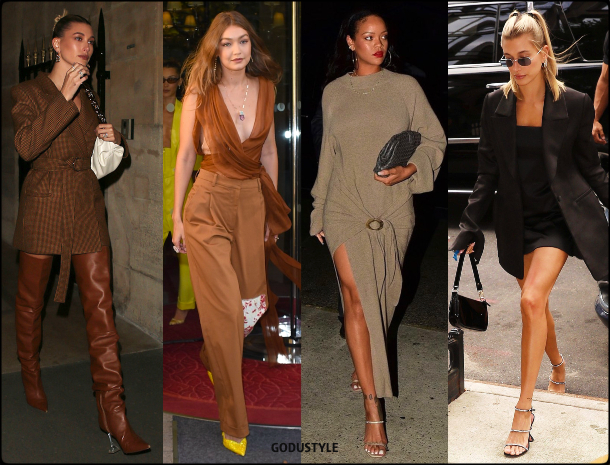 amina muaddi, hailey bieber, gigi hadid, rihanna, fashion, shoes, sandals, pumps, slingback, designer, street style, summer 2020, collection, look, style, details, celebrities, outfit, influencers, shopping, moda, zapatos, verano 2020