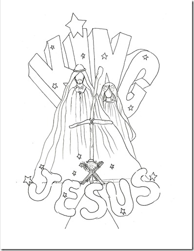 Christmas coloring pages for the kiddos (3/3)