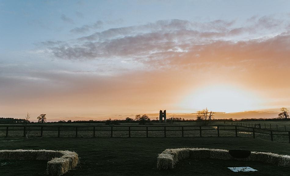 Darina Stoda captures a winter sun set over Godwick