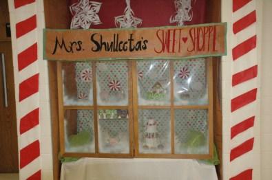 "Art teacher Glenda Shulleeta's ""Sweet Shoppe."""