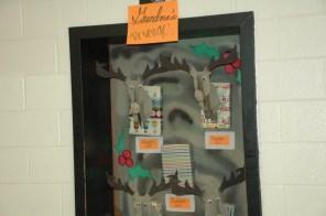 "English teacher Mary Mordica's ""Grandma's Revenge"" door."