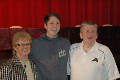 Senior Jacob Kessler with his family