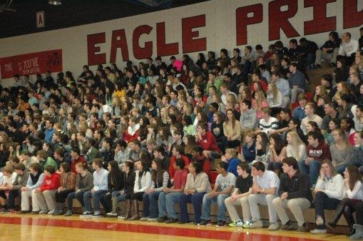 Godwin students come out to support their fellow Eagles.