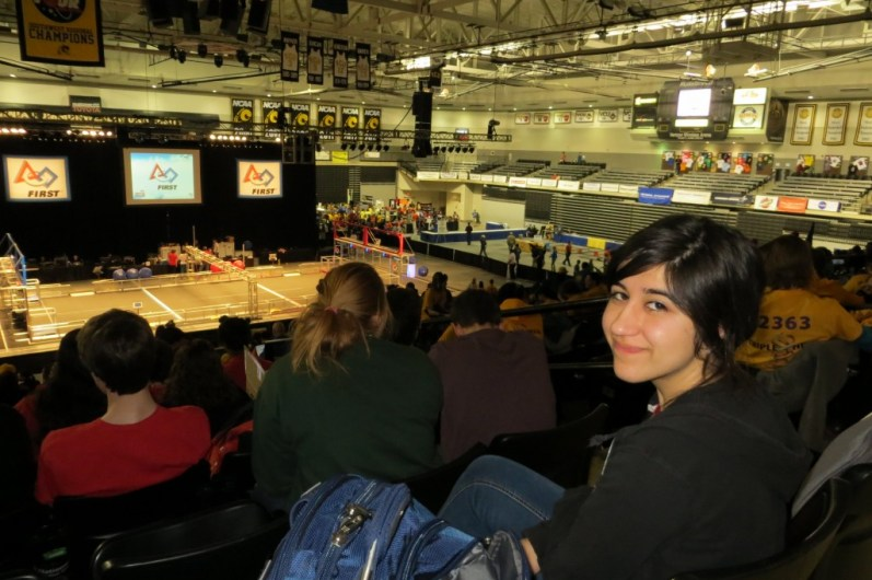Sofia Duarte at the Siegel Center, watching the competition