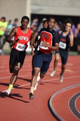 Godwin boys running the 4x400 meter relay