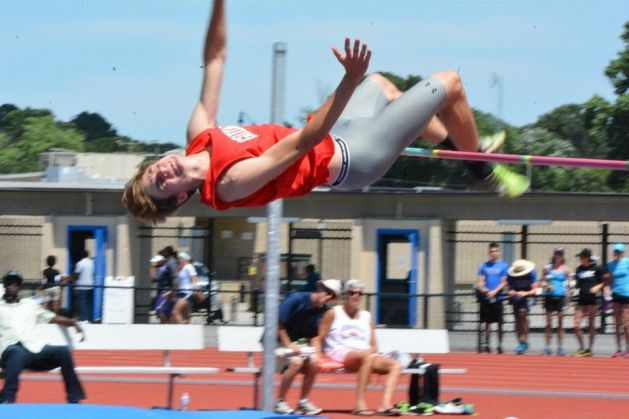 Carter Ward jumping in the high jump