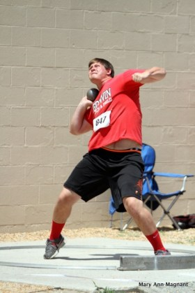 Boys' shot put