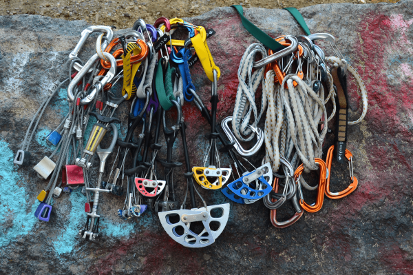 Rock Climbing Trad Gear Rack