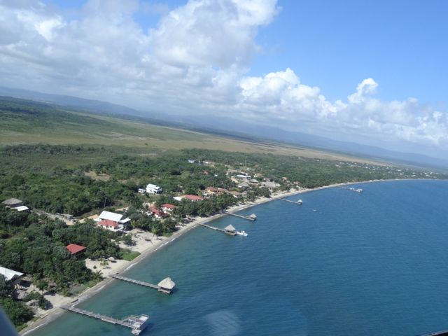 aerial view of Belize City