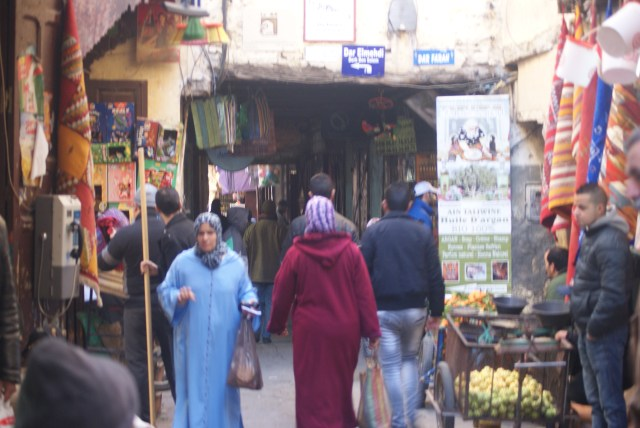 Non-stop action in the medina