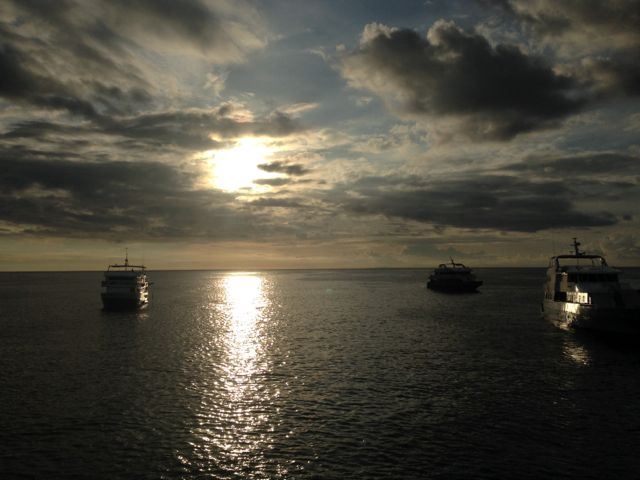 sunrise in the Galapagos Islands