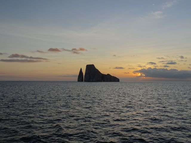 sunset in the Galapagos