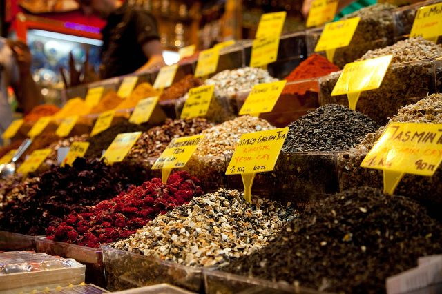 Tea_and_spices Istanbul_spice_market