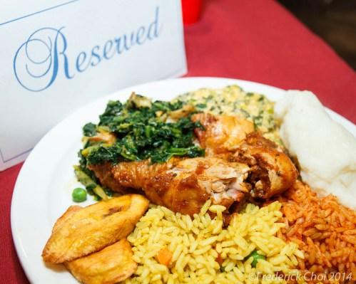 Nigerian food platter