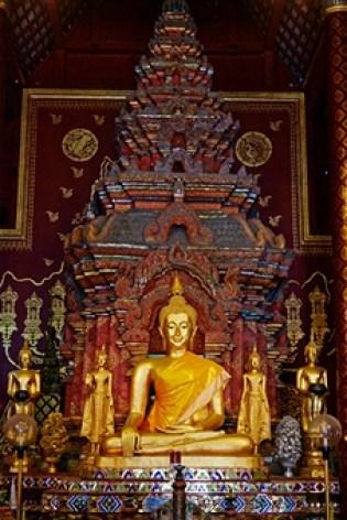 Inside Wat Chiang Mien in Chaing Mei, Thailand