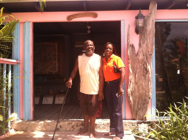 Mr Bugaloos and Sheniqua from Taste of TCI Food Tour