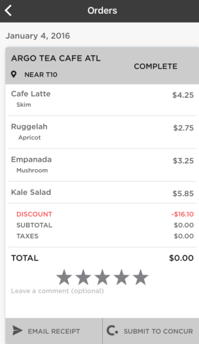 grab menu