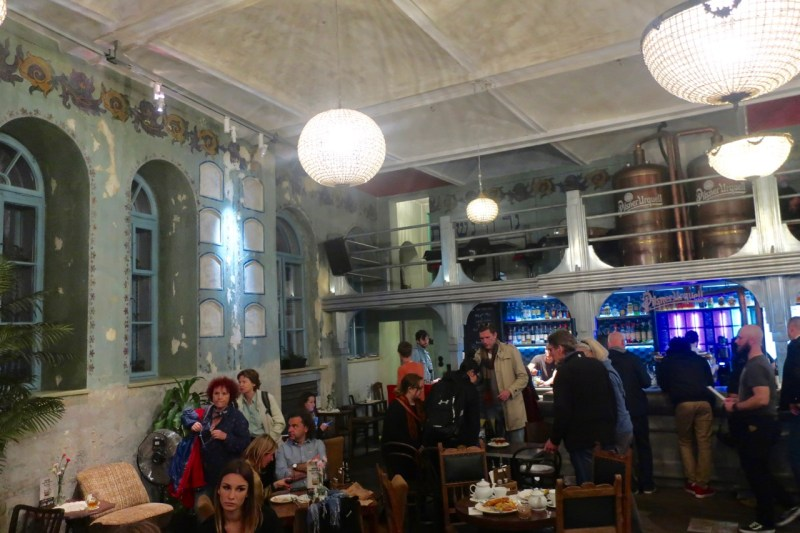 A stop on the polish food tour, Herez, is a bar inside a converted Jewish prayer house