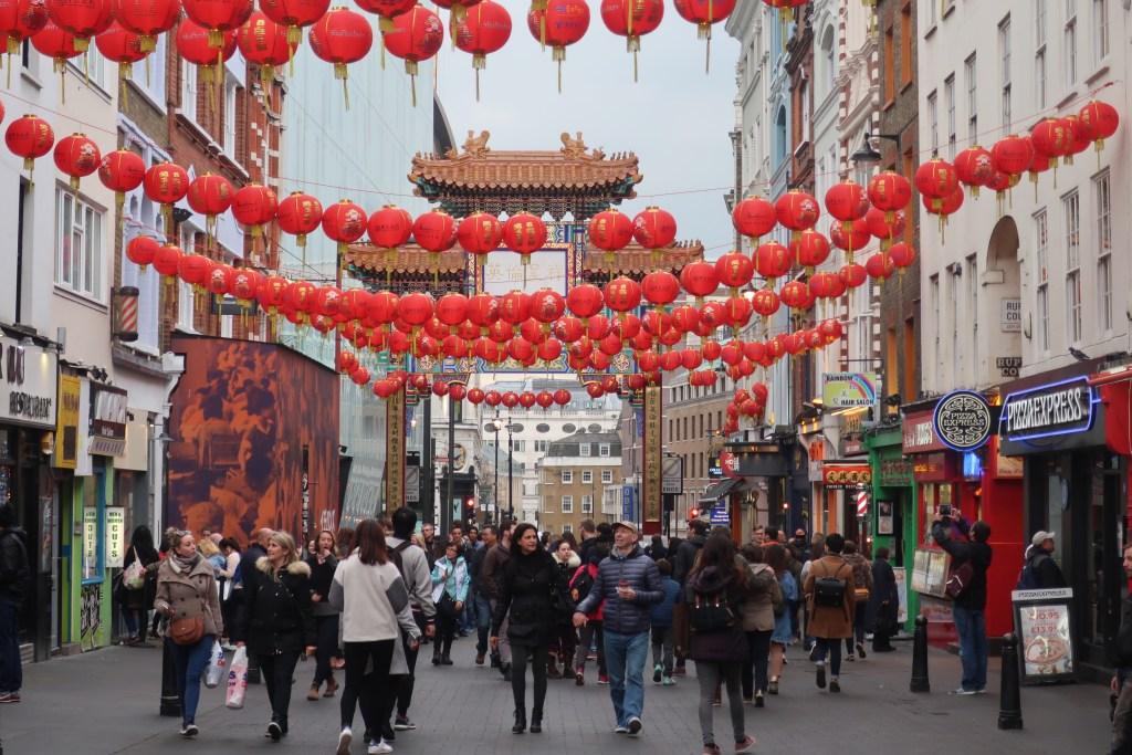 Walking in China Town London