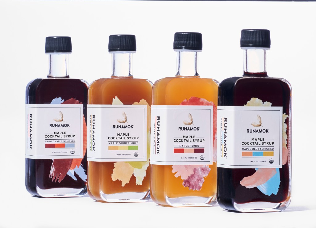 colorful maple syrup