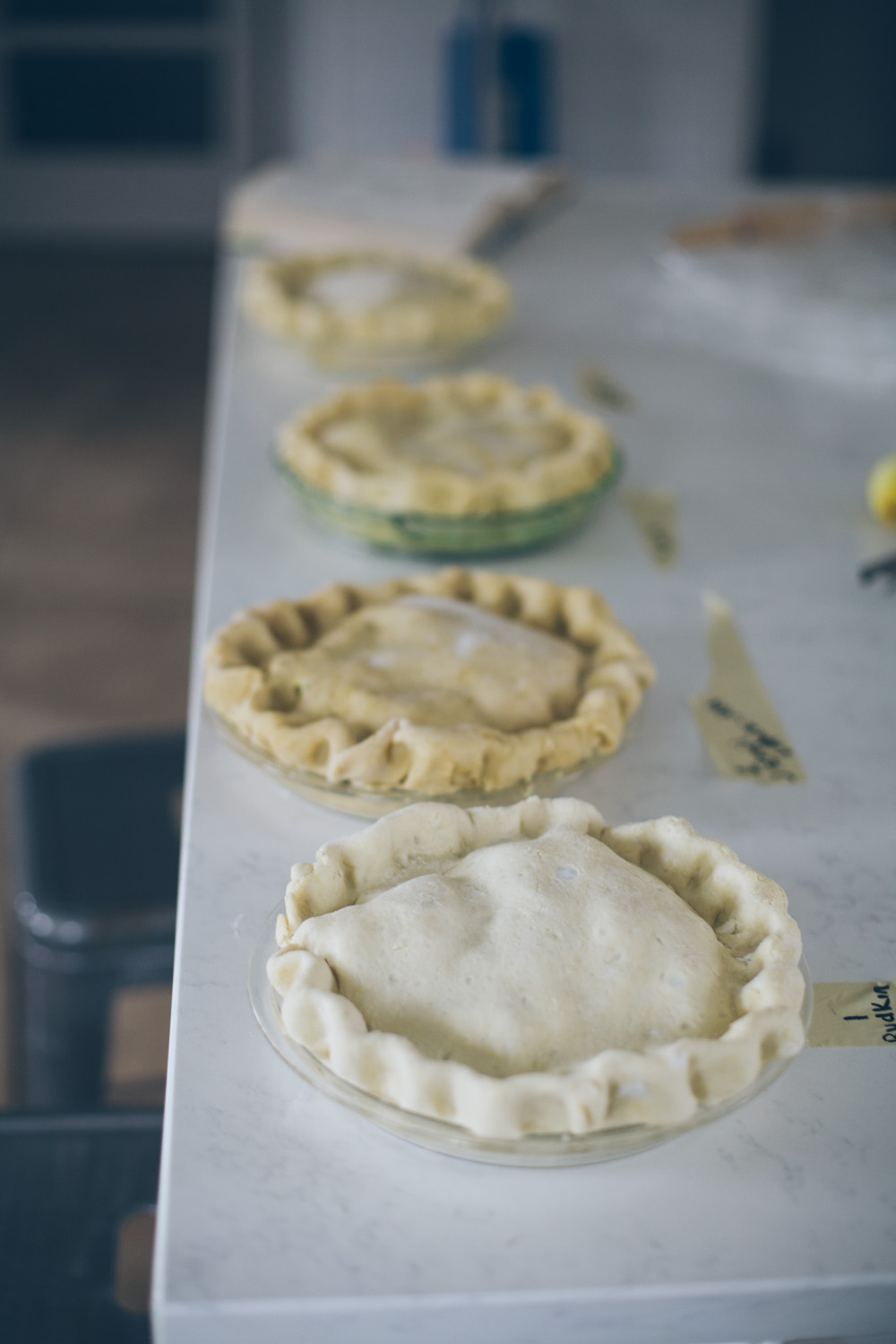 unbaked pie crusts