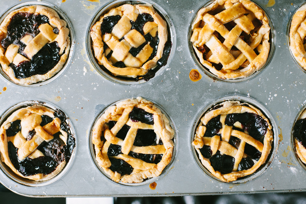 Fourth of July desserts: mini lattice fruit pies