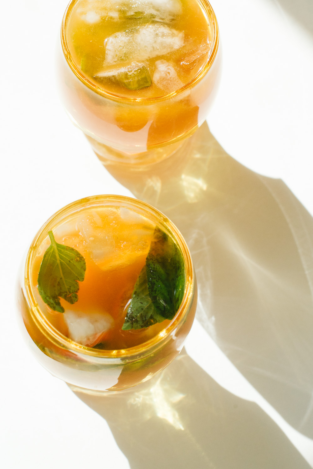 orange basil mocktail / go eat your bread with joy