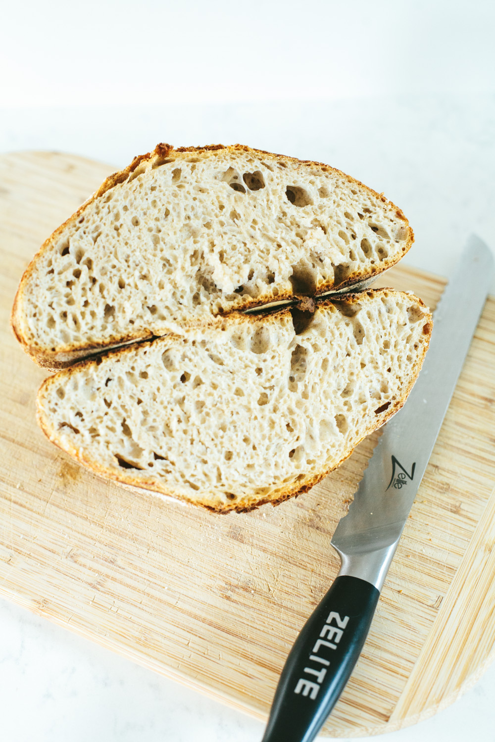 naturally leavened long fermented sourdough bread