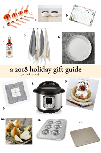 a 2018 holiday gift guide in the kitchen