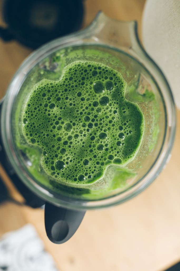 An everyday kale drink to try, posted in this month's inspiration roundup at Go Eat Your Bread with Joy