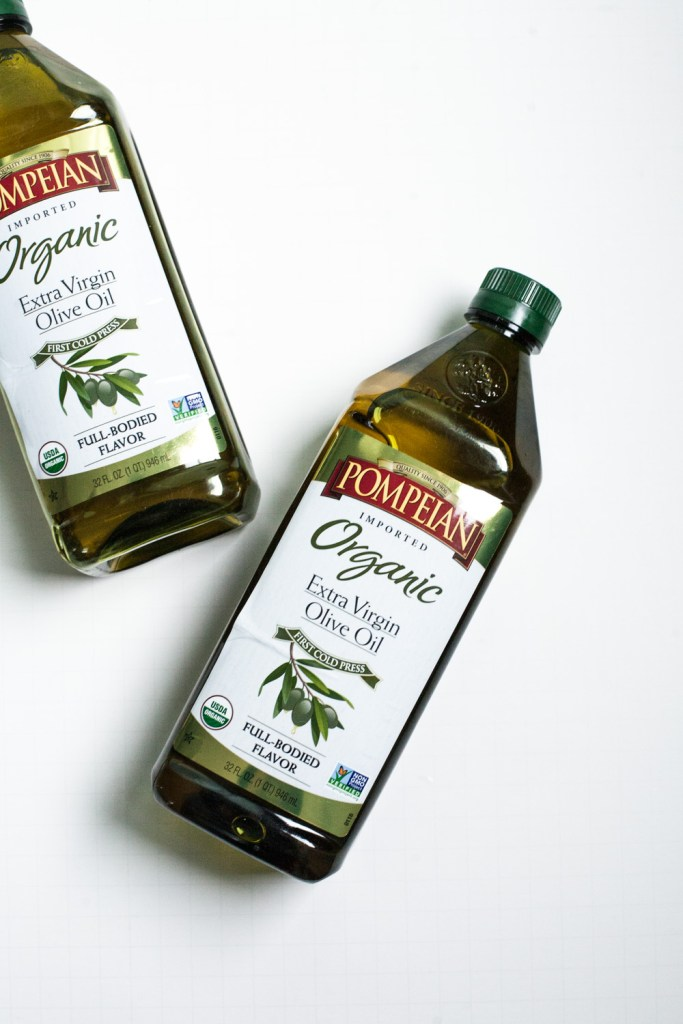 Pompeian Organic Extra Virgin Olive Oil -- a great tool for winter skin care / Go Eat Your Bread with Joy